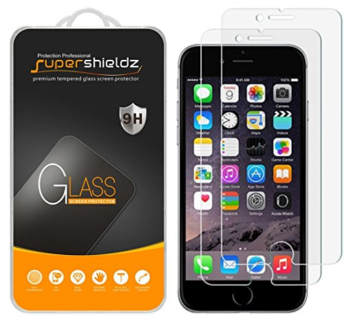 0bf970b1dea  2-Pack  Supershieldz for iPhone 6   6S Tempered Glass Screen Protector