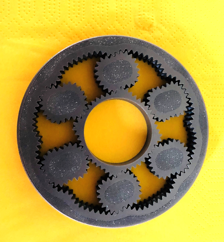 This part was; 3D printed as shown; all gears run flawlessly.