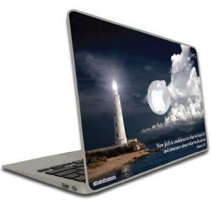 Macbook Air or Macbook Pro (13 inch) Vinyl, Removable Skin - Christian Theme - Hebrews 11:1