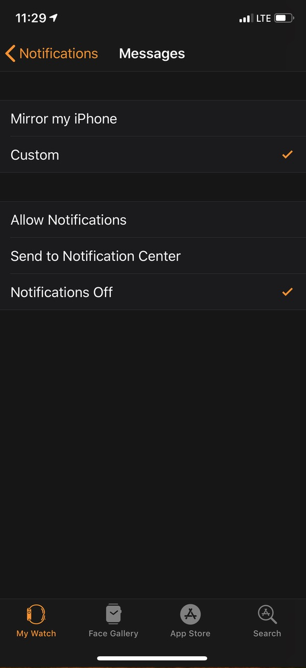 quot; Notifications Offquot; for Apple in app