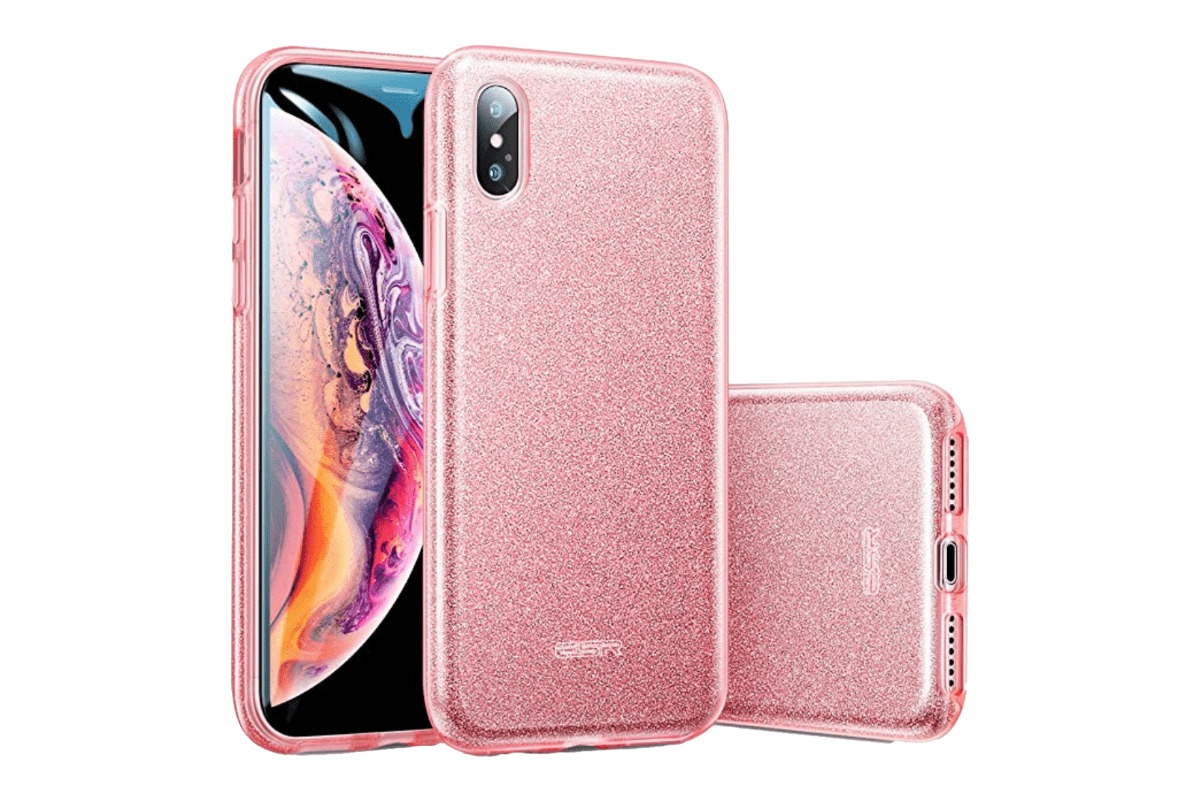 The ESR glitter case in our collection of iPhone XS Max cases.