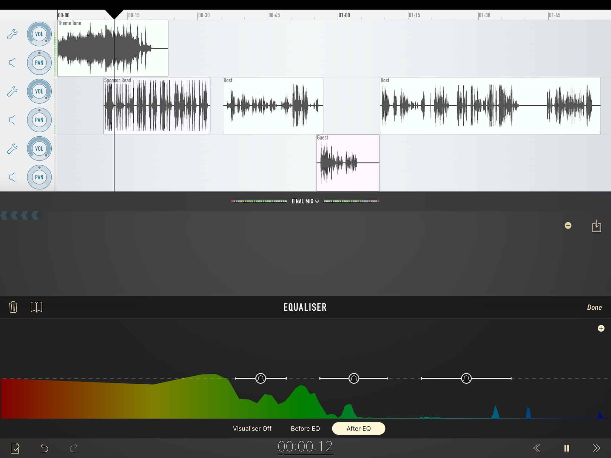 Like your professional recording studio on your iPhone and iPad.