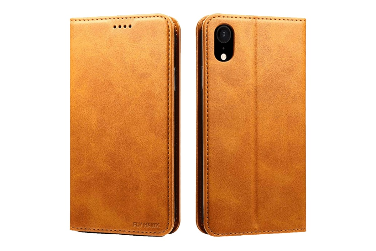 Fly Hawk leather wallet case in our collection of iPhone XS Max cases.