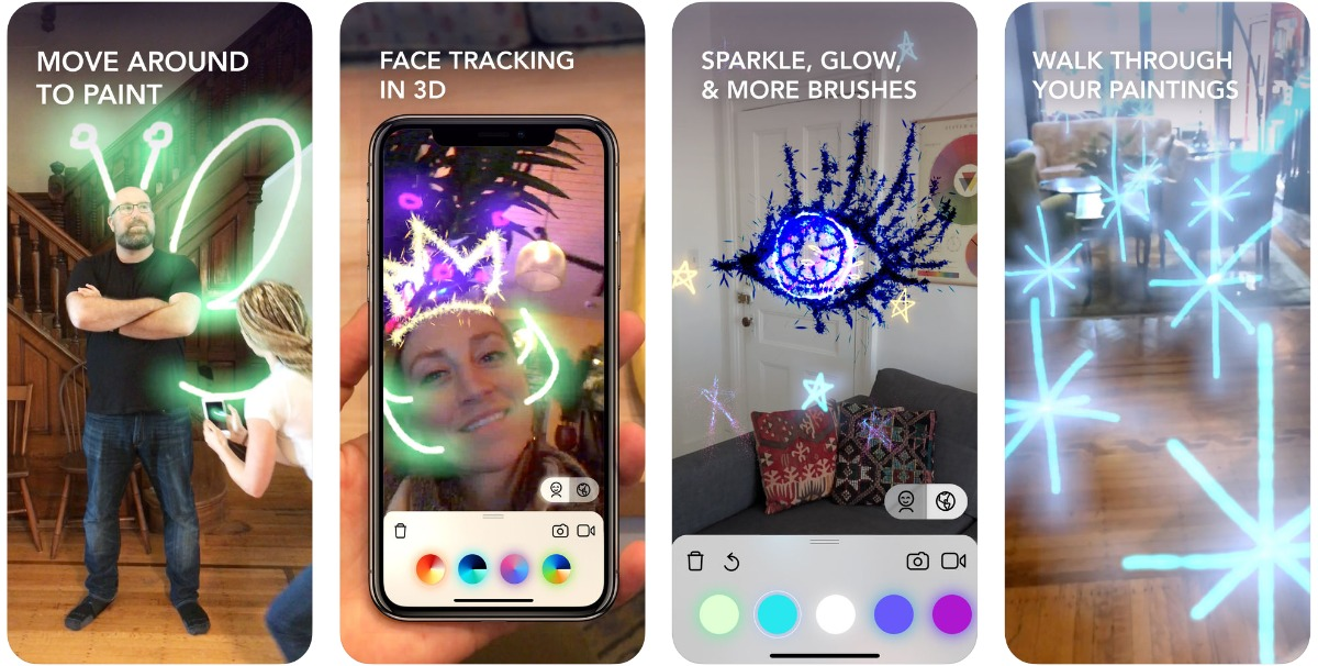 screenshots of lightspace in our list of iOS 12 ar apps.