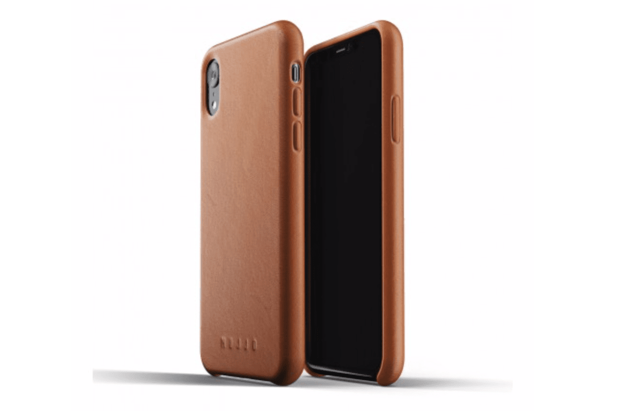 Picture of Mujjo leather case in our collection of iPhone XR cases.