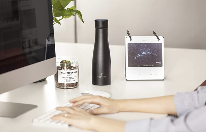 LIZ smart water bottle can disinfect and remind you to drink
