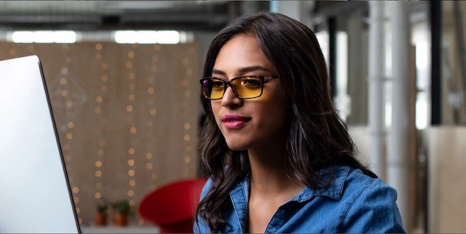 By blocking blue light from screens, glasses like these can help relieve eye strain.