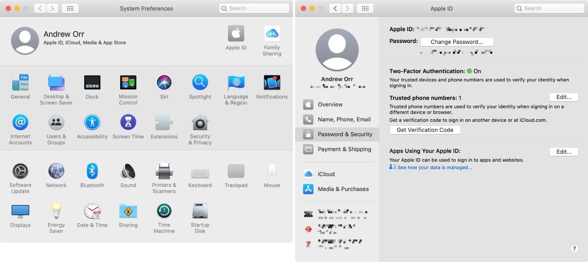 Reset Apple ID on Mac