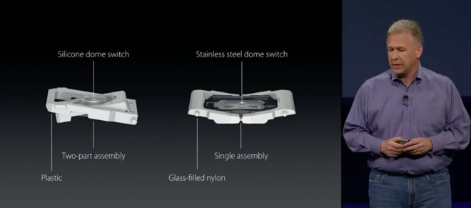 Phil Schiller explains the difference between the old scissor system and the new butterfly in 2015