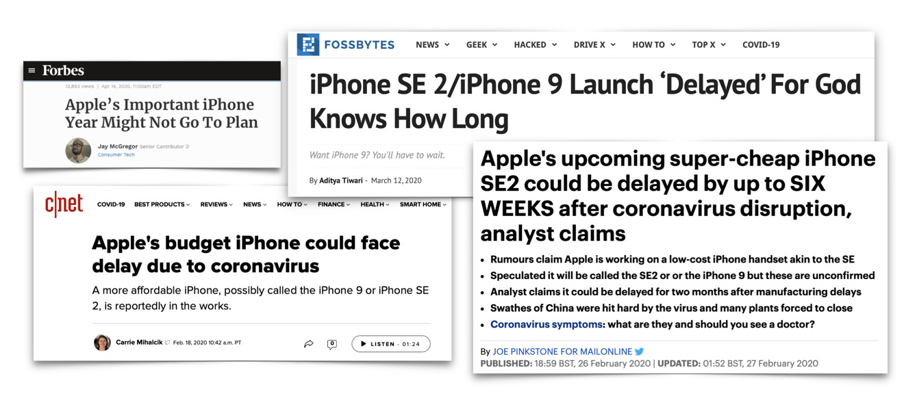 iPhone SE delayed