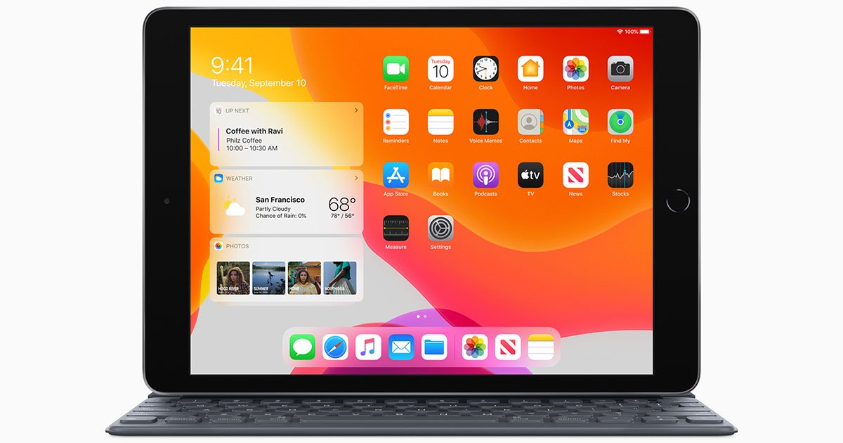 IPadOS home screen,