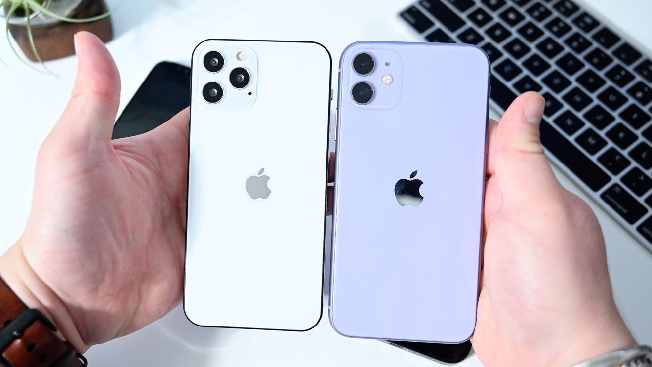 iPhone 11 (right) vs. iPhone 12 Max