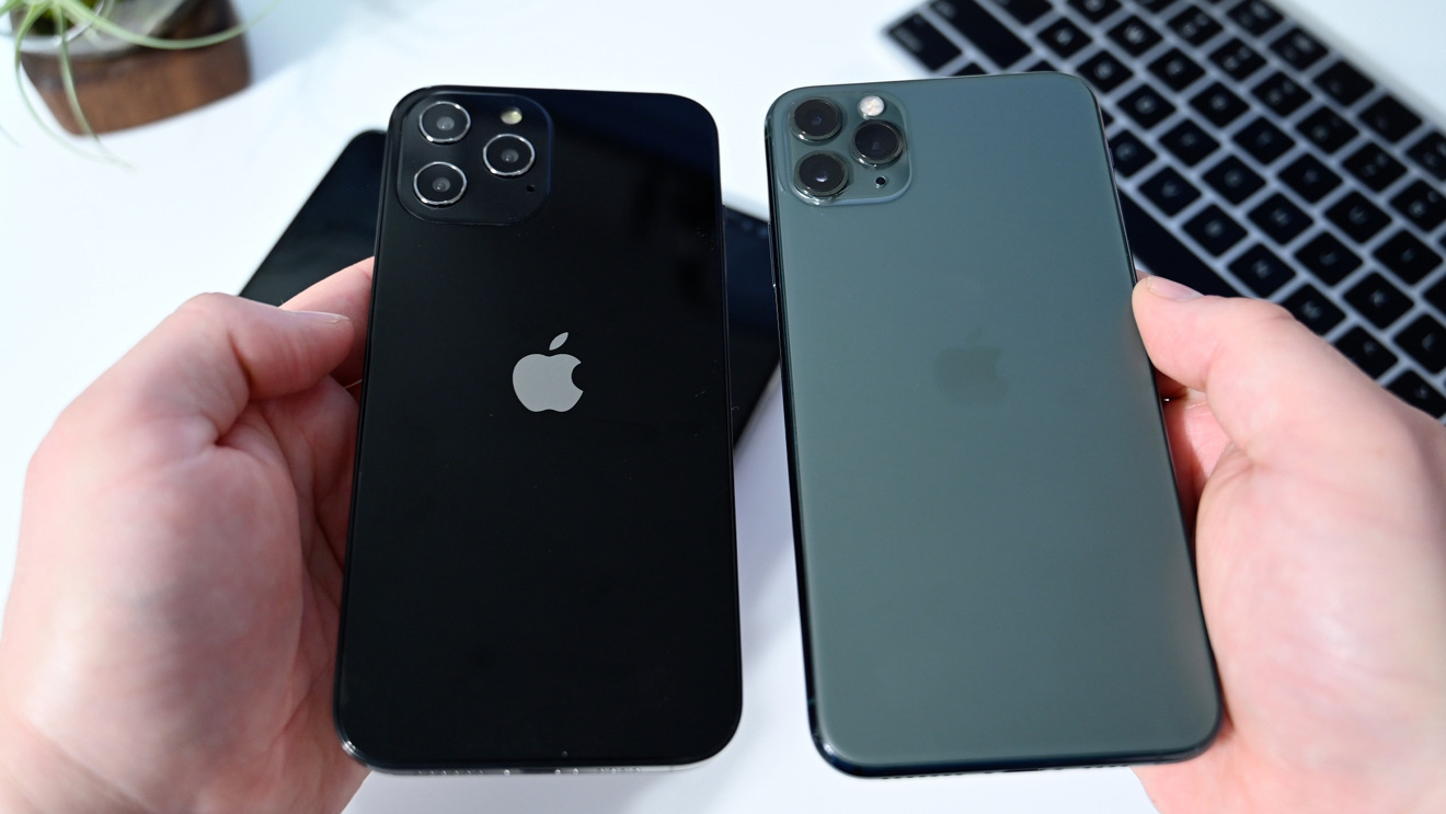 The new iPhone 12 Pro Max vs. iPhone 11 Pro Max (right)
