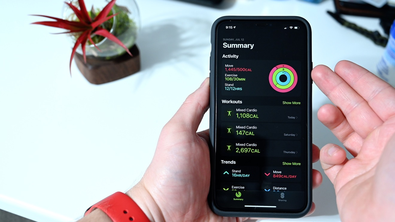 Summary tab redesigned in the Fitness app