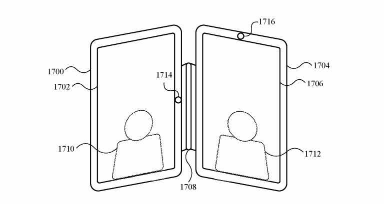 The hinge could allow two devices of similar size to function in a book-style layout.