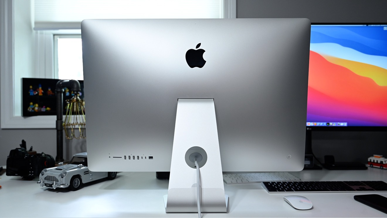 The rear of the 2020 iMac 27-inch