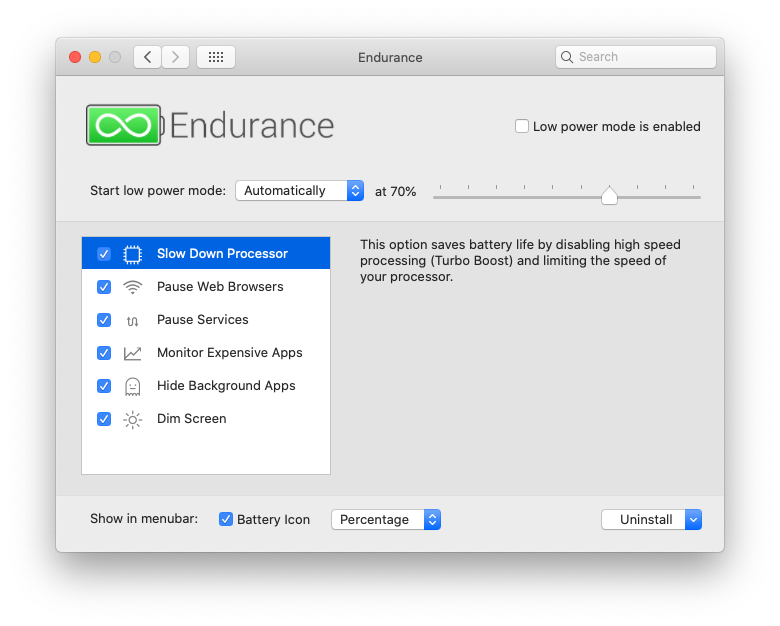 Take charge of your battery (haha) with Endurance.