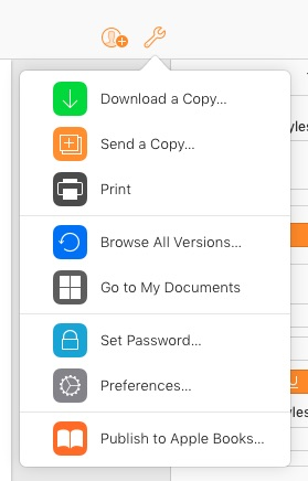 Print or publish your Pages document