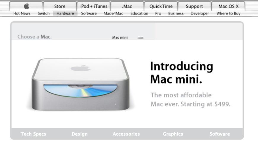The first Mac mini of 2005