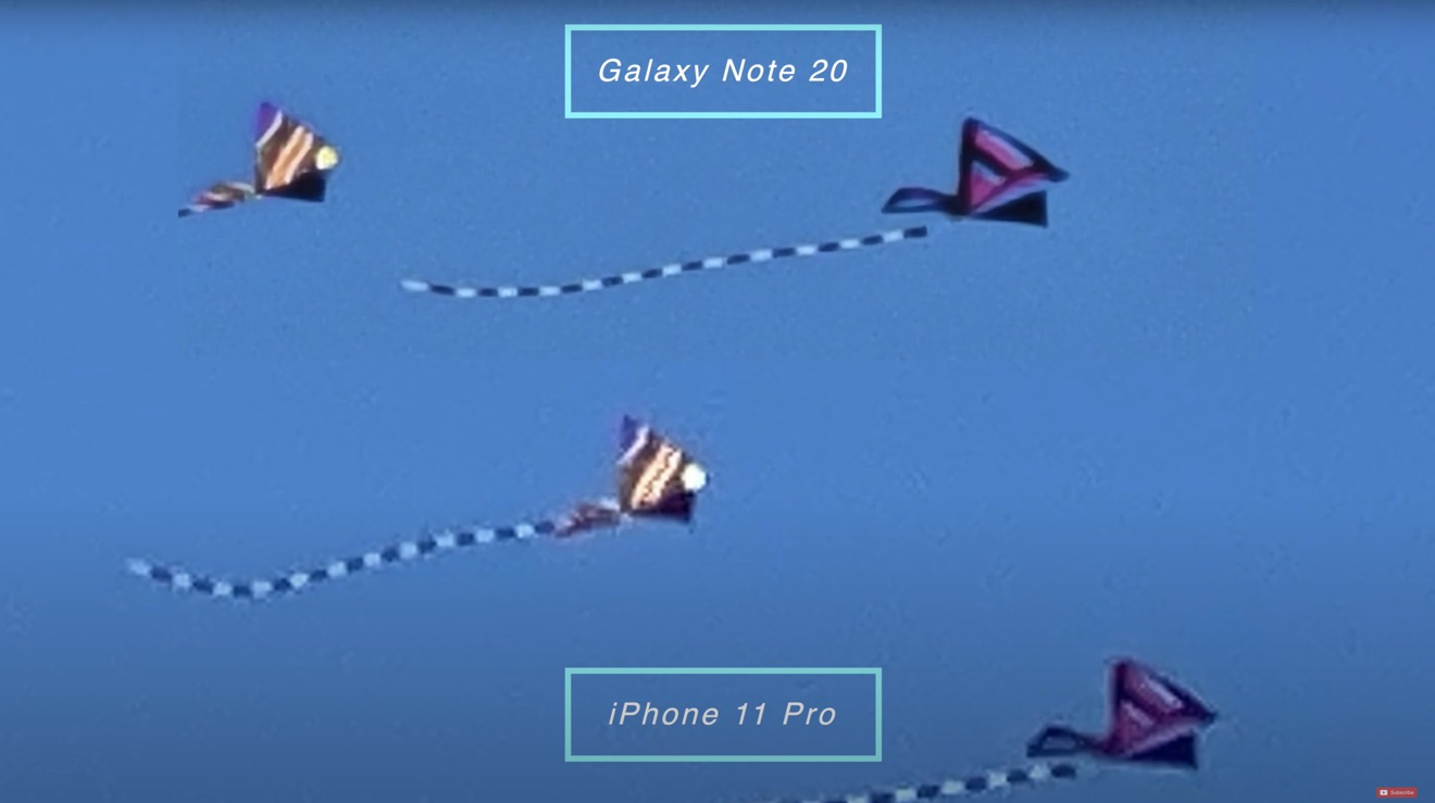 Note 20 at 30X vs. iPhone at 30X shows how far Samsung is ahead