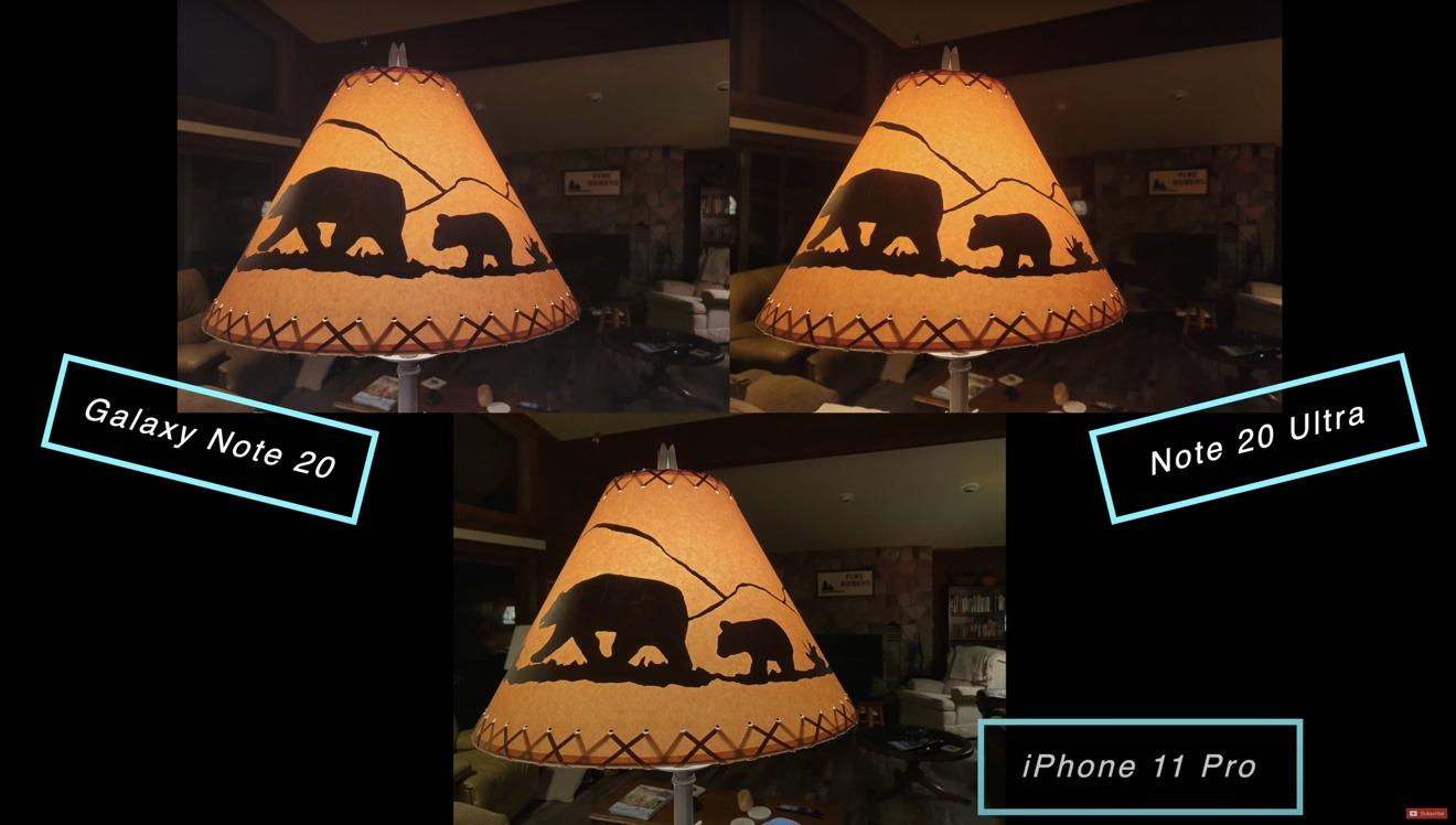 Low light shot of an indoor lamp
