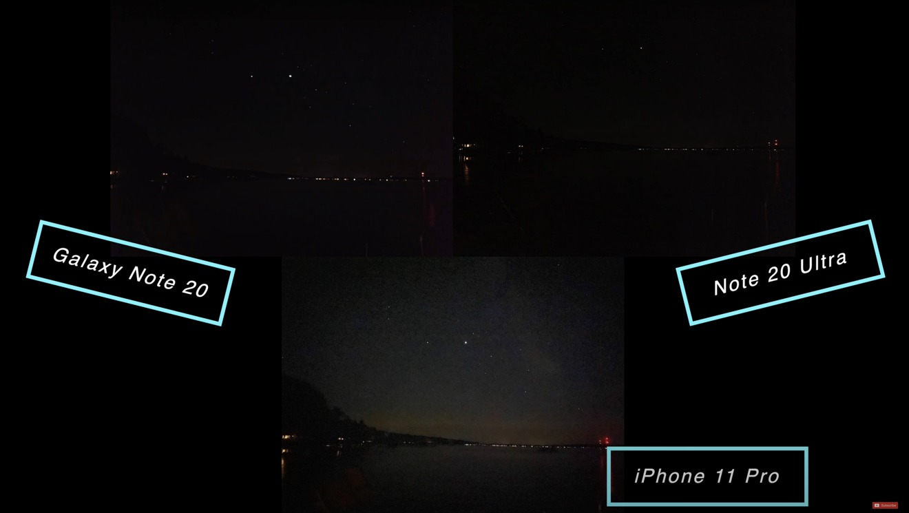 The night sky looked fine, although the Ultra skewed the white balance